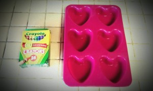 Step 1 Crayon Heart Mold