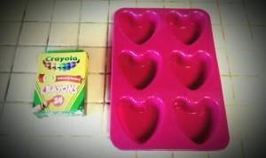Step 1 Crayon Heart Mold