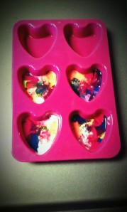 Step 3 Crayon Heart Molds